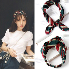 Buy 2017 New Fashion Plaid Turban Headband Women Hair Accessories Stretch Hairbands Girls Headwear Headbands Head Wrap Band for $1.31 in AliExpress store