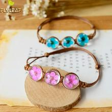 Buy Flyleaf 2017 Handmade Weave Natural Dried Flowers Charm Bracelets & Bangles Women Fashion Girl Gift Jewelry for $2.41 in AliExpress store