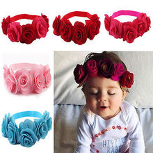 Newborn Baby Kids Girls Infant Headband Flowers Hair Band Accessories Headwear(China)