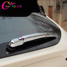3 Pcs/Set ABS Chrome Rear Water Wiper Protection Cover Wiper Windshield Blade Trim Sticker For Nissan Juke 2015 2016 Accessories