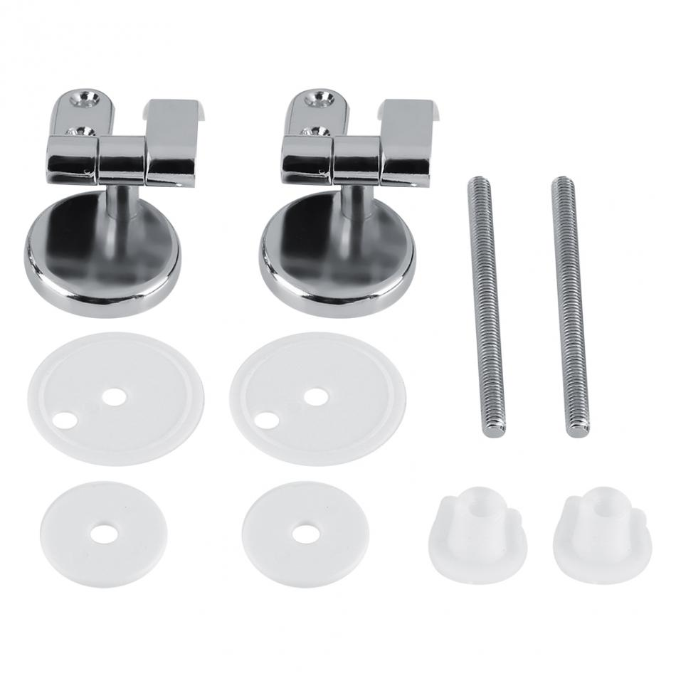 Silver Parts Hinges Toilet Hotel Zinc Alloy Brackets Tools Mounting Accessories