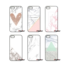 For iPod Touch iPhone 4 4S 5 5S 5C SE 6 6S 7 Plus Samung Galaxy A3 A5 J3 J5 J7 2016 2017 Pink Marble and Rose Split Case Cover