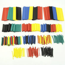 328 Pcs/lot 5 Colors 8 Sizes Assorted 2:1 Heat Shrink Tubing Wrap Sleeve Kit top