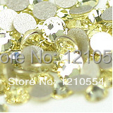 SS3 1.3-1.4mm,jonquil 1440pcs/bag crystal flat back non hot fix stones free shipping cell phone supplies