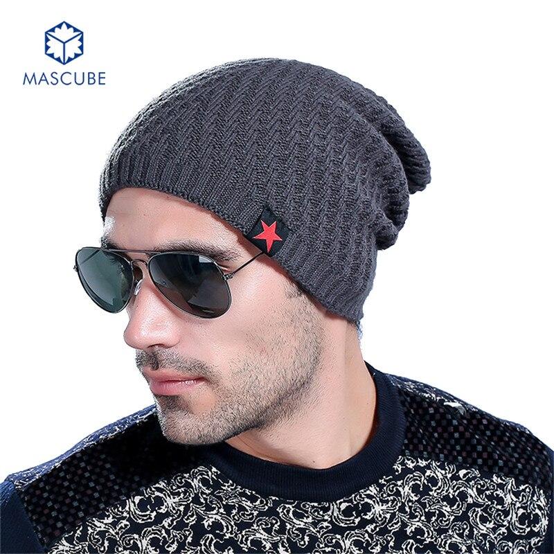 Autumn Winter Ski Cap Male Brand Beanies Knit Star Plus Velvet Cap Mens Thick Cotton Hat Solid Bonnet For Men Women gorrasÎäåæäà è àêñåññóàðû<br><br><br>Aliexpress