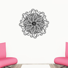 New arriving mandala wall stickers creative art vinyl home decal yoga indian buddha symbol mural room decoration