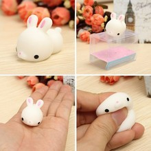 Kawaii Bunny Rabbit Squishyed Squeeze Cute Healing Toy Kawaii Collection Stress Reliever Gift Decor Toy For Children Adult