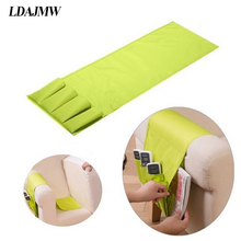 LDAJMW Household Sofa Couch TV Remote Control Holder Arm Rest Organizer Cell Phones Storage Bag 4 Pocket Sundries Storage Pouch