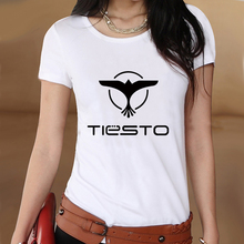 World Famous DJ Tiesto Logo Summer White Slim Style Graphic Print T shirt Women Tshirt Swag Clothes Tee Top Gift Printed Music(China)