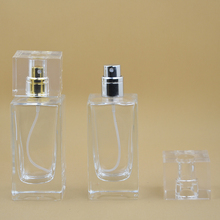 Hight Quality 10PCS 50ml Crystal Practical Glass Refillable Perfume Bottle With Metal Spray &Empty Packaging Parfum Case