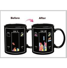 Tetris Mug Hot Water Safe Color Change cup Creative Pattern Ceramic Mug use for Home office drink milk coffee tea hot water