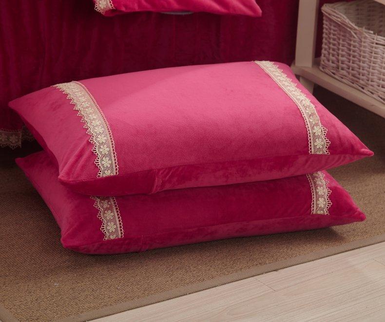 3Pcs Fleece Bed Skirt Set W/ Pillowcases, Mattress Protective Cover 48