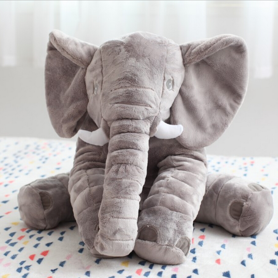 60cm Elephant Soft Plush Toy Animals Dolls for Kids Christmas Gifts baby Appease Sleep pillow<br><br>Aliexpress