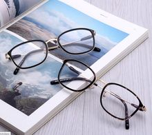 2017 New ultra-light TR90 glasses wooden square steel skin embedding retro plain mirror frame factory outlet fashion glasses(China)