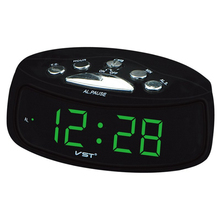 Big numbers Digital Clock 0.9'' inches large display clock EU Plug AC Power Alarm Clocks electronic desktop Digital table Clocks