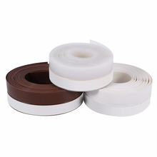 Window Door Silicone Rubber Draught Excluder Strip Sealing Tape for Window Door Sealing 3Colors(China)