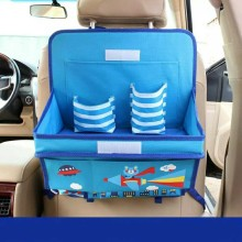 Car Organizer For Kids Oxford Cartoon Auto Organizers Back Seat Child Dining Table Storage Box Organizador Car Accessories(China)