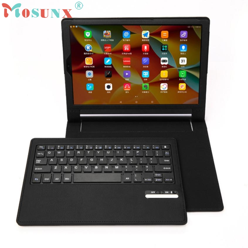 Beautiful Gift New 1pc For Lenovo Yoga 3 Pro 10inch Bluetooth Keyboard With Leather Case Stand Cover Wholesale price Apr8<br>