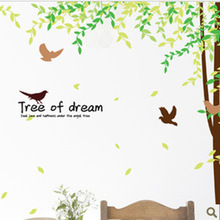 Factory Outlets Fifth Generation Of Removable Wall Stickers Wall Stickers Transparent PVC Film Larry Dream Tree