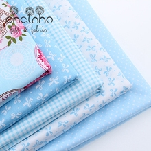 Cotton Fabric For Patchwork Quilts Scrapbooking Products Fat Quaters Tilda Cloth Sewing Fabrics 5pcs Blue Designs 40*50CM