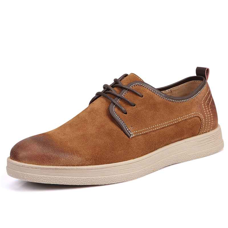 England Styles Causal Shoes Mens Brand Minimalist Design 100% Genuine Suede Leather Shoes Men Spring Autumn Leisure Flat<br>