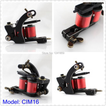 Professional Top Liner Cast Iron Wire Cutting Tattoo Machine Gun 10 Wrap Coils Machine Supply CIM16#
