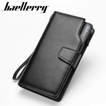 2017 New men wallets Casual wallet men purse Clutch bag Brand leather wallet long design men bag gift for men(China)