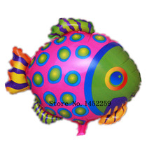 XXPWJ Free shipping 1pcs wholesale children's toys birthday balloon cartoon balloon wholesale pink spotted fish T-036(China)