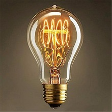 Lightinbox  Vintage screw light bulb quad loop filament Incandescent Retro old fashioned Edison Style Lamp