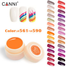 5ml canni color nail gel paint uv gel nail polish manicure nail art 141 color nail lacquer varnish coat cheap fast dry color gel(China)
