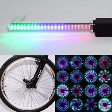 Color Changing Bike Wheel Light 36 RGB LED 32 Modes Change Spoke Light Water Resistant Anti-shock Bike Bicycle Decorate Light