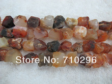 "Gem stone jewelry finings Carnelian Agat e Rough stone beads for jewelry diy 5strings/lot 15.5""/string"