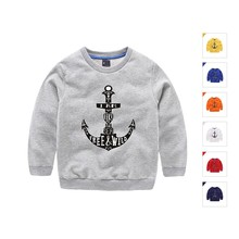 Baby Girls Sweatshirt Anchor Pattern Boys Hoodies Kids Cotton T Shirt 7 Colors Child Sweater Clothes Casual Kids Tops Costume