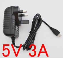 1PCS High quality 5V 3A micro usb ac/dc power adapter uk plug charger supply 5v3a for raspberry pi zero other the(China)