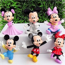 6Pcs/Lot Mickey Mouse Anime PVC Action Figures Minnie Mouse Anime Figure Figurines Collectible Dolls Kids Toys For Girls