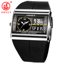 2017 Men Quartz Electronic LED Watch OHSEN Brand Sports Watches Relogio Masculino Fashion Casual Dress Analog Mens Wristwatches