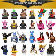 Single sale DC Super Heroes Batman Batgirl Fairy Batman Bathrope legoings Joker Rainbow Building Block Figure Toys Child Gift