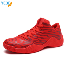 FEBE Men's CBA on Court Retro Basketball Shoes Breathable Cushioning Support Sneakers Sports Shoe