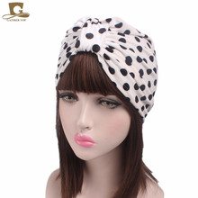 NEW women luxury Velvet Turban Polka Dot leopard zebra pattern Head Wrap chemo cap hair cover