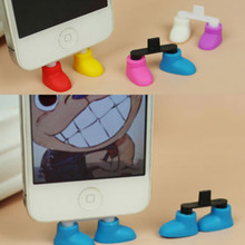 Shoe Foot Shape Dustproof Usb Charger Port Plug Stand Holder Gadget For Phone 5  IyB9