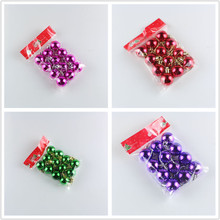 12PCS/lot 3cm Christmas balls wholesale electroplating ball light Christmas tree ornaments Christmas decorations