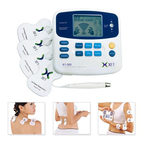 Hot Sale!! Dual XFT-320 TENS Machine Digital Electric Body Massager Acupuncture Pen &amp; Pads<br><br>Aliexpress