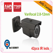 DC Security 1.0 MP 720P AHD Reviews Balun 1200TVL IR bullet Outdoor Distribuidor CFTV(China)
