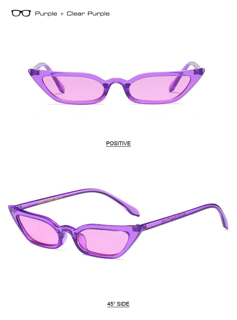 f551714e74c SHAUNA 2018 Spring Summer Styles Women Little Cat Eye Sunglasses ...