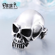 2017 new store 316L Stainless Steel Skull ring top quality new Designed products Man's Vampire Fashion Jewelry BR8-149(China)