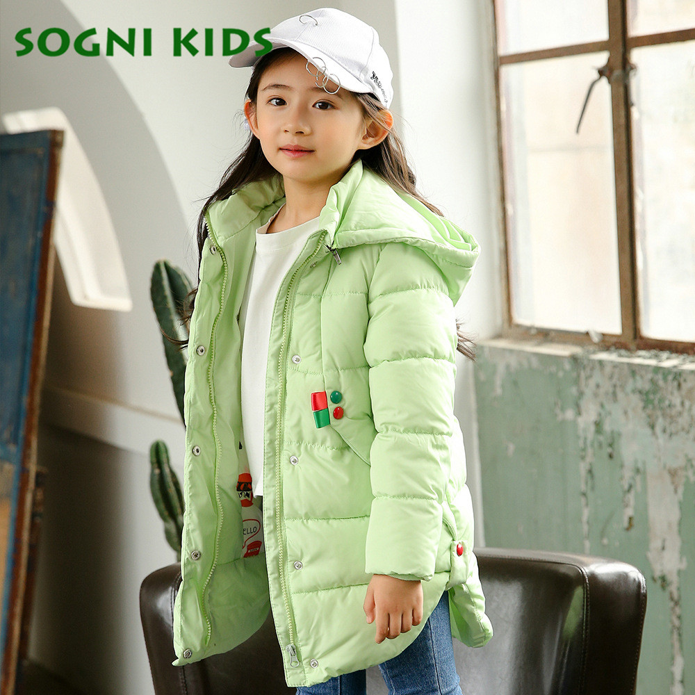 4-8 Years Girls Down Duck Coats Long Sleeve Parkas 2017 Fashion Thicken Down Jackets Super Warm Solid Hooded Winter Kids Clothes<br>