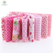 HOT5*50cm 8pcs 100% CottonPink New Year Christmas Decoration Tildas Roll Crafts Sewing Roll Set Hair Accessories TX-1-4