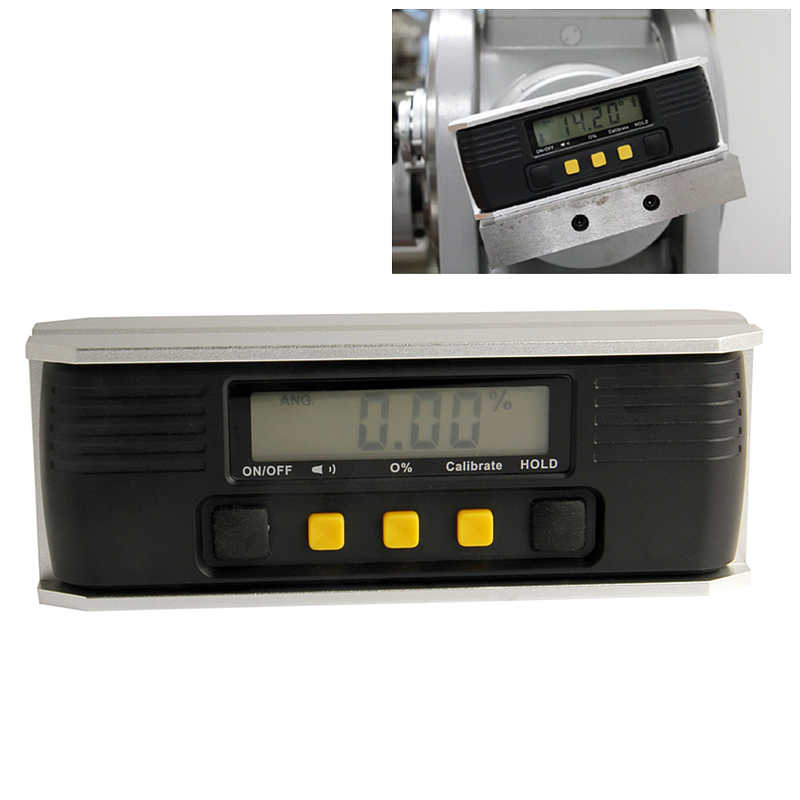 Digital Protractor Inclinometer Always Upright LCD Aluminum Base Electronic Level Measuring Tools<br>