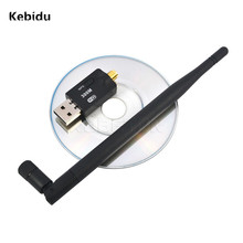 Kebidu 300 Mbps USB Wireless 2.4GHz Network Wifi Adapter USB 2.0 Lan Card Antenna For Windows XP/Vista/7 Linux WPS function(China)