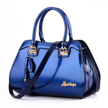 2017 Top Fashion Luxury Handbags Women Bags Designer Patent Leather Totes Solid Hobos Women's Single Shoulder Bag Crossbody(China)